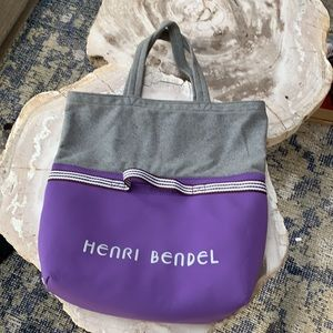 HenriBendel Flannel&Neoprene Convertible Tote NWOT